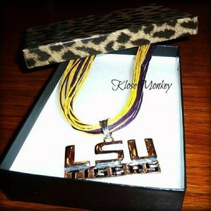 Multi-strand NCAA licensed LSU Tigers Necklace